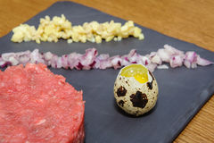Beef tartare royalty free stock photo