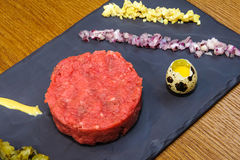 Beef tartare royalty free stock photography