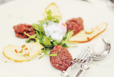 Beef tartare, toned Stock Images