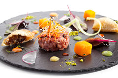 Beef Tartare with Vegetables Stock Photos