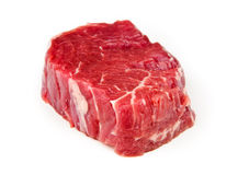 Beef tenderloin. On a white background Stock Photos