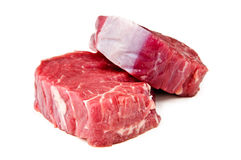 Beef tenderloin. On a white background Stock Image