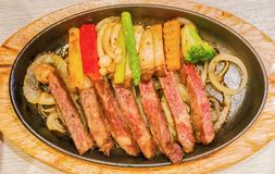 Beef Teppanyaki recipe Japanese Steak. Beef Teppanyaki recipe.Japanese Steak Stock Photography