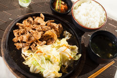 Beef teriyaki set Royalty Free Stock Images