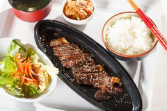 Beef teriyaki set Royalty Free Stock Photos