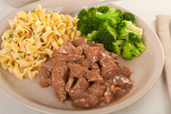 Beef Tip Meal Royalty Free Stock Photography