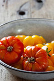 Beef tomatoes in a bowl Royalty Free Stock Photography