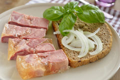 Beef tongue in aspic royalty free stock photos
