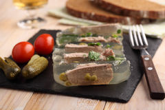 Beef tongue aspic royalty free stock photos