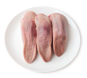 Beef tongue in plate Stock Photography