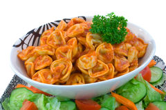 Beef Tortellini and Salad Stock Image