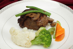 Beef tournedos plate Stock Photography
