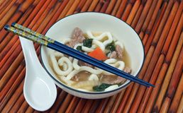 Beef Udon Noodle Soup Stock Images