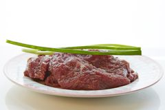 Beef under pickling Stock Images