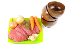 Beef with vegatables Royalty Free Stock Photos