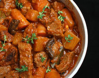 Beef & Vegetable Casserole Stock Photo