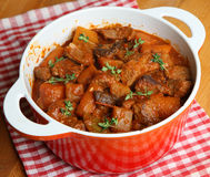 Beef & Vegetable Casserole Stock Images