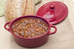 Beef Vegetable Soup Stock Image