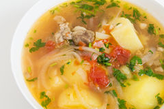 Beef and vegetable soup Stock Photography