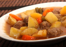 Beef and vegetable stew Royalty Free Stock Images