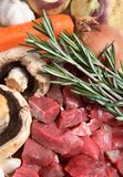 Beef vegetable stew ingredients Royalty Free Stock Photography