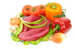 Beef and vegetables Stock Image
