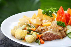 Beef and vegetables Royalty Free Stock Image