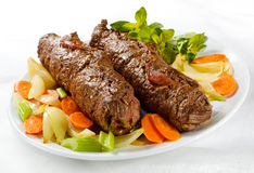 Beef and vegetables Royalty Free Stock Photography