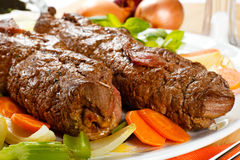 Beef and vegetables Stock Images