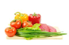 Beef and vegetables Stock Photography