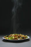 Beef With vegetables and bamboo Royalty Free Stock Photography