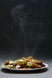 Beef With vegetables and bamboo Stock Photo
