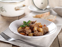 Beef and vegetables goulash Royalty Free Stock Images