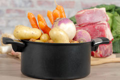Beef and vegetables for the preparation of pot-au-feu Royalty Free Stock Photos
