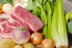 Beef and vegetables for the preparation of pot-au-feu Stock Photo