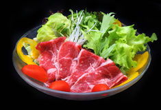 Beef and vegetables salad Royalty Free Stock Image