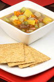 Beef and vegetables soup Royalty Free Stock Photo