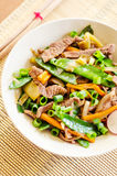 Beef and vegetables Royalty Free Stock Images