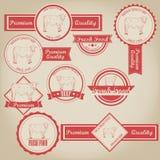 Beef Vintage Label royalty free illustration