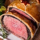 Beef Wellington as Advent creation Royalty Free Stock Photo