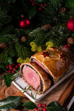 Beef Wellington as Advent creation Royalty Free Stock Image
