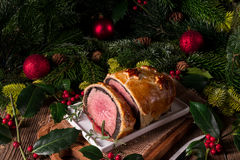 Beef Wellington as Advent creation Stock Image