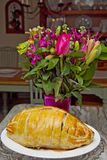 Beef Wellington and Flowers Royalty Free Stock Photography