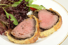 Beef wellington meal Royalty Free Stock Photography
