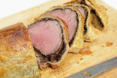 Beef wellington slices Stock Photo