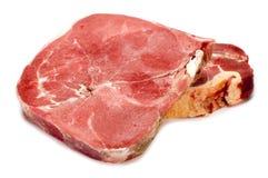 Beef on white stock photos