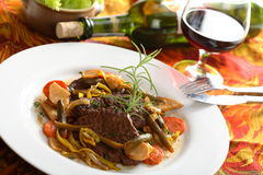 Beef with wine Royalty Free Stock Photography