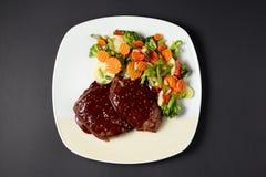 Beef in wine-mustard sauce. Italian style. Italian food. Italian Royalty Free Stock Photography