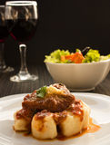 Beef With Sauce And Gnocchi Stock Image