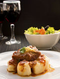 Beef With Sauce And Gnocchi Royalty Free Stock Photos